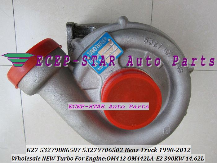 NEW K27 K27 442 53279886507 Turbo Turbocharger Fit For Mercedes Benz Truck Bus 1990 2012 Engine OM442 OM442LA E2 390KW 378KW|engine parts|engine tracker|new cummins engine - title=