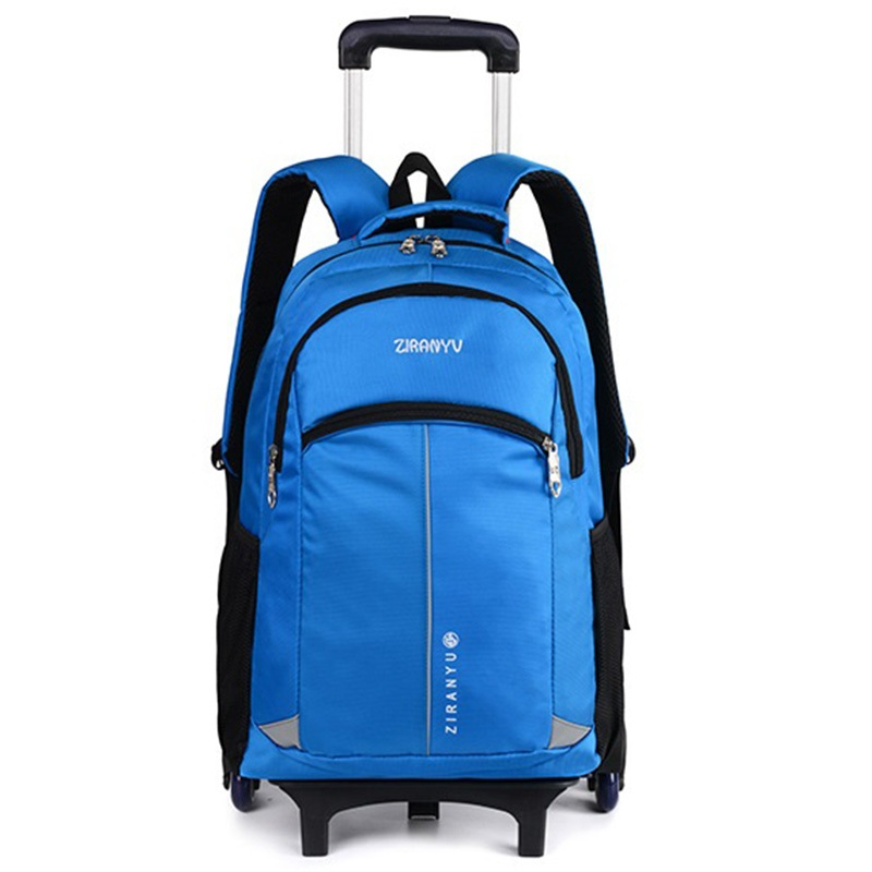 c860d64c6a31 Trolley School Bag Kids Climb the Stairs Wheeled Backpacks Children Rolling  Backpack Bags Travel luggage Bags
