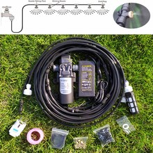 18M Water Mist Spray Electric Diaphragm Pump Kit Misting System Automatic Water Pump Sprayer with Brass Mist Nozzles  for Garden new aftermarket pump repair packing kit 248213 for graco sprayer 1095 1595 5900