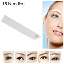 CHUSE S16 Permanent Makeup Needles Eyebrow Microblading Manual Bevel Blades 16-Pins for Tattoo Machine and Pen 100Pcs/Lot
