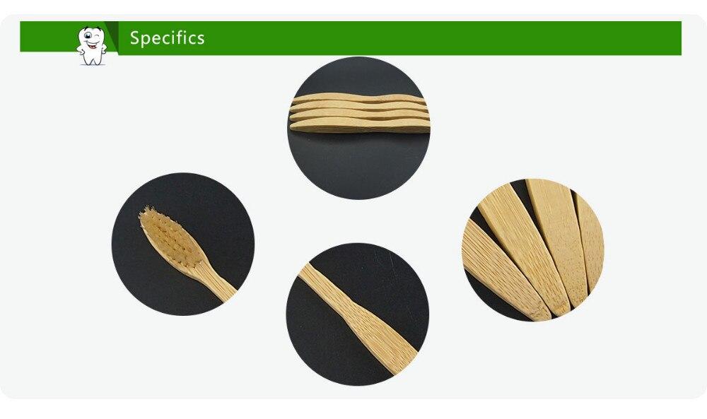 Bambu Escova De Dentes Oral Care raspador de língua