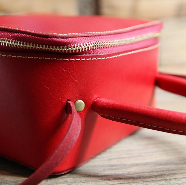 2019 Bag for Women New Creative Handmade Shoulder Bag Genuine Leather Lady Slung Bag Mini Female Handbag in Shoulder Bags from Luggage Bags