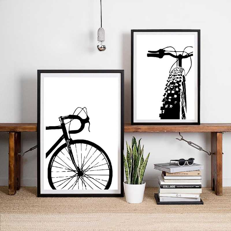 Bicycle Motivational Art Cycling Canvas Painting Wall Pictures , Bike Canvas Art Prints And Posters Gift Home Kids Room Decor