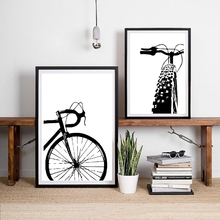 Bicycle Motivational Art Cycling Canvas Painting Wall Pictures , Bike Prints And Posters Gift Home Kids Room Decor