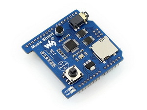 Music Shield MP3 Module for Leonardo, NUCLEO, XNUCLEO, Audio Play/Record, VS1053B Onboard Supported MP3/AAC/WMA/WAV/MIDI formats music shield mp3 module for leonardo nucleo xnucleo audio play record vs1053b onboard supported mp3 aac wma wav midi formats