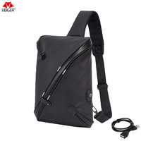 Vbiger Men Chest Bag Oxford Cloth Sling Bag Casual Cross Body Chest Pack Fashionabl Messenger Bag