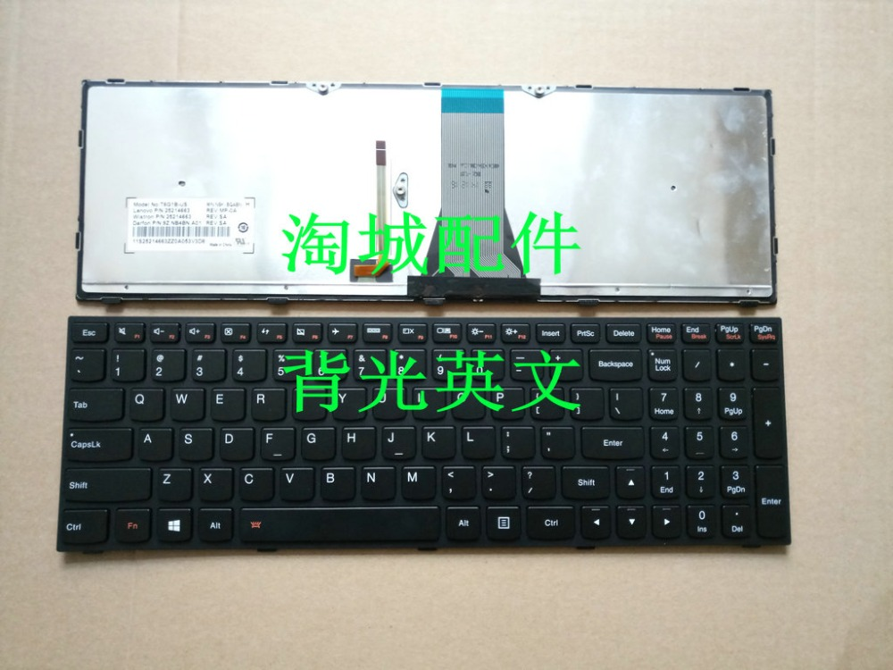 US $24 41 5% OFF|SSEA New laptop US Keyboard backlight For Lenovo G50 Z50  B50 G50 70A G50 30 G50 45 G50 70 keyboard with Black frame-in Replacement