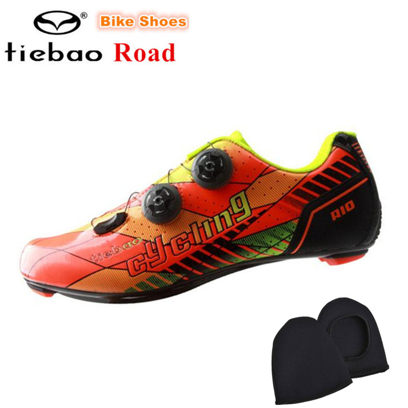 TIEBAO 2018 Carbon road Bike Shoes Auto-lock Ultralight Cycling Shoes zapatillas deportivas mujer Athletic Riding Shoes men 2017brand sport mesh men running shoes athletic sneakers air breath increased within zapatillas deportivas trainers couple shoes