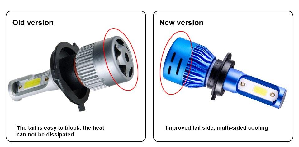 Foxcncar 1PCS 2PCS LED H7 Car Headlight H4 LED H4 H11 H1 H8 9005 H9 HB3 9006 HB4 High Low beam 8000LM 12V Mini 6500K COB 72W 24V (3)