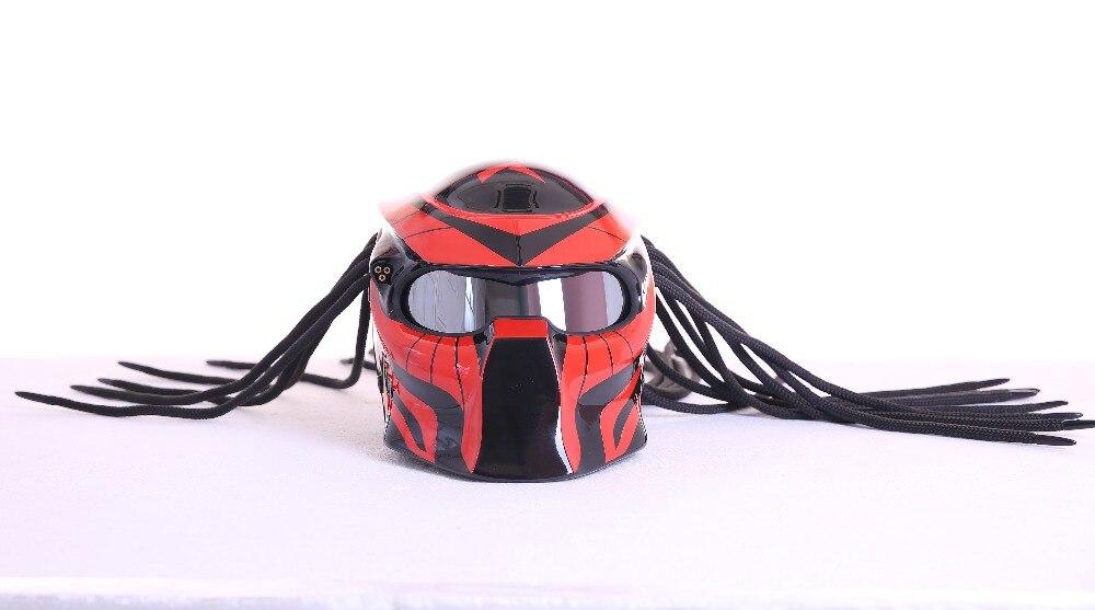 2017 Nuevo Masei depredadores máscara de fibra de carbono moto ...
