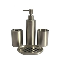 304 Stainless Steel Bathroom Set Bathroom Set Of 4 Lotion Bottle Toothbrush Holder Mouth Cup Soap Box