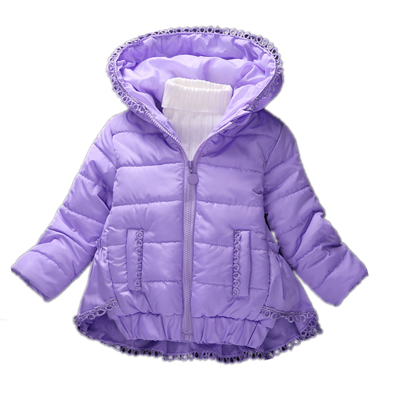 ФОТО High Quality 2016 New Winter Clothes Kids Outerwear Children Girls Cotton Pad Parkas Fashion Snow Wear baby Hoodies Clothing