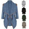 Кардиган Женщины Зимнее Пальто 2017 CELMIA Осенняя Мода Женщины Кардиган Свитер Пальто С Длинным Рукавом Большой Нагрудные Женщины Пальто Куртки