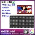 Крытый rgb светодиодный дисплей p7.62 SMD крытый полный цвет светодиодный экран 32*16 пикселей 16 s СВЕТОДИОДНЫЙ модуль 244*122 мм светодиодные рекламные доска