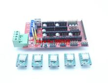 Reprap Ramps 1.4 Controller With 5PCS A4988 with Heatsink Stepper Driver For Arduino mega 2560  Free Shipping