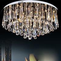 Simple modern LED round warm living room hall K9 microphone crystal lamp atmospheric luxury headlamps ceiling lamps lighting
