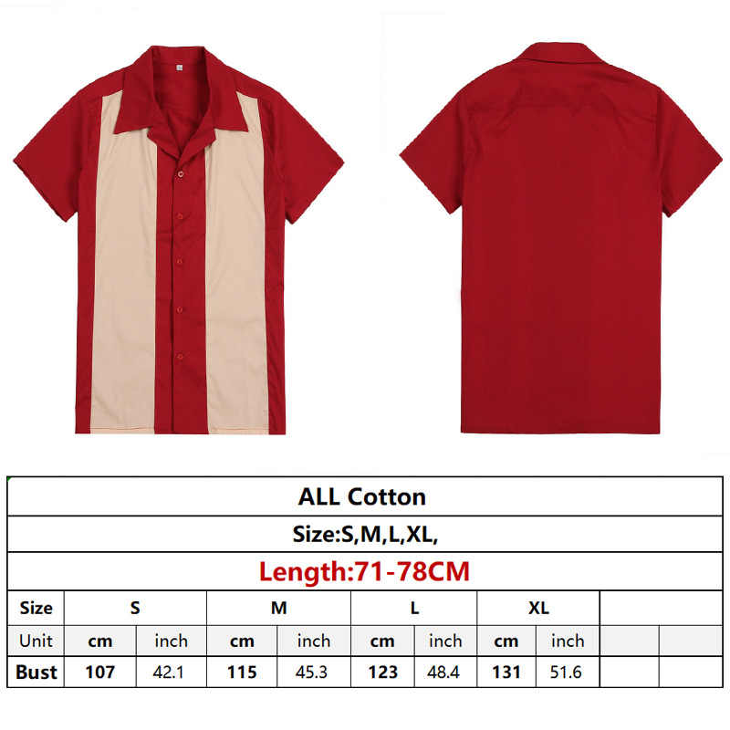 a58f0f2af7 ... Vertical Striped Shirt Men Designer Shirts Red Short Sleeve Camiseta  Retro Hombre Bowling Button-Down ...