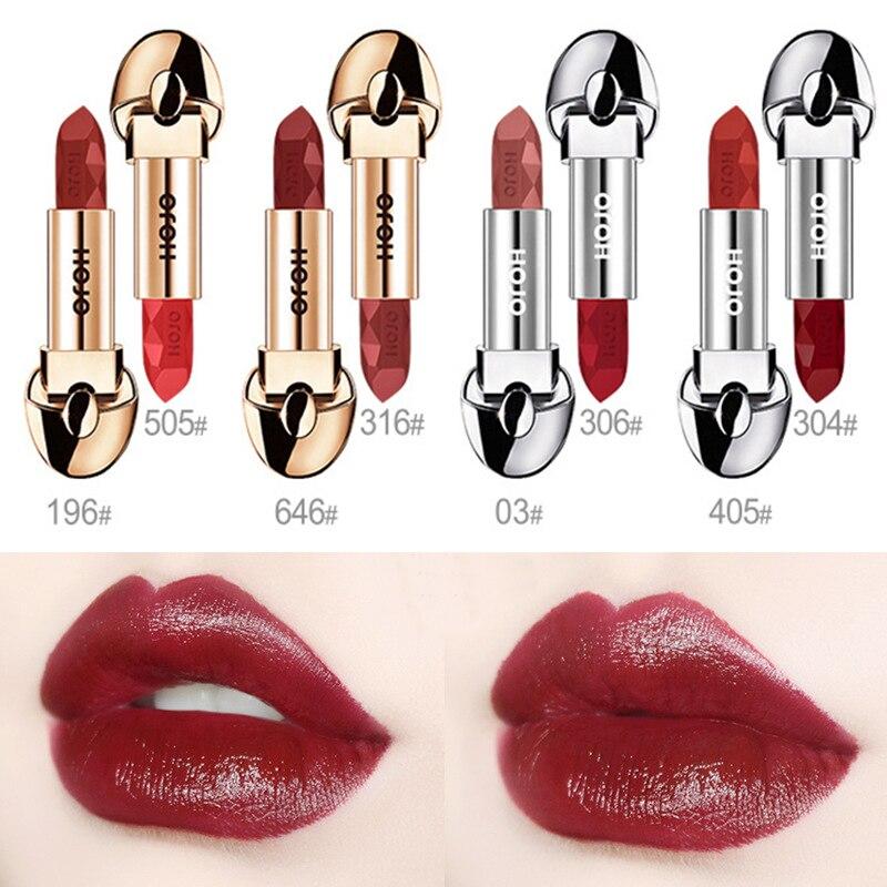 HOJO New Diamonds Matte Nude Lipstick Waterproof Long