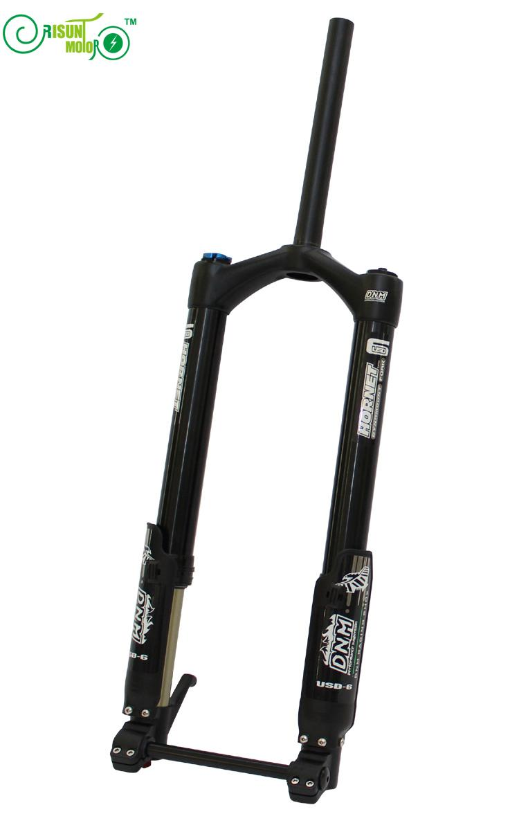 Free Shipping RisunMotor Ebike Front Fork DNM USD-6 Fat Bike Air Suspension Electric Bicycle/E-Bike/Electronic Parts usd 6 fat wide fat fork 26 air suspension bicycle front fork for mtb 26 4 0 26 4 5 26 4 8 snow bike fat bike beach bike ebike