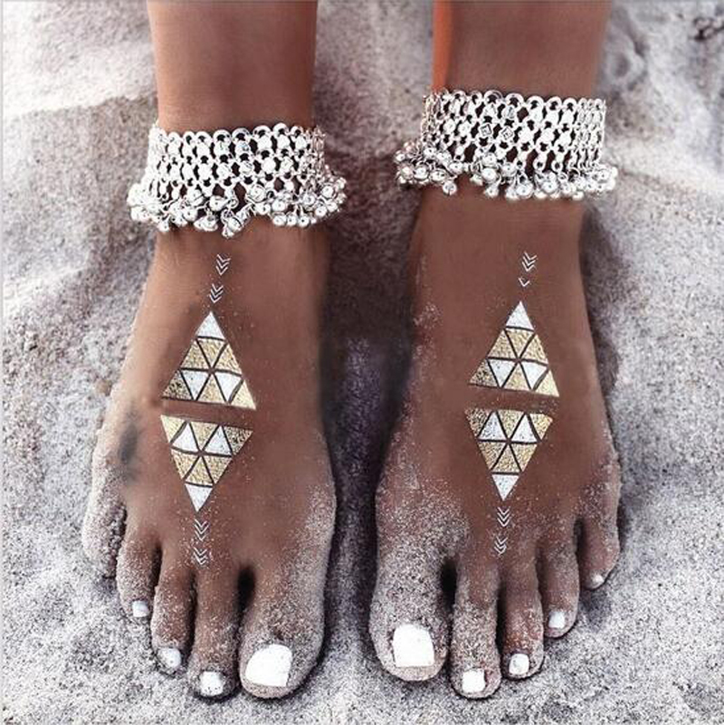 stone anklet metal ankle multi from girl chain bracelet foot boho ankles jewelry in gypsy bijoux feet hollow beach big item anklets silver women for summer
