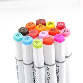 Touchfive Twin markers Pen 48/60/80/168 Colors Marker Set Alcohol Sketch Pen Professional Arts and Crafts For School Artist Draw