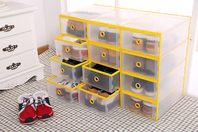Ordinaire Women Men Shoe Organizer New Style Plastic Clear Shoe Storage Box Home Drawer  Storage Box Shoe