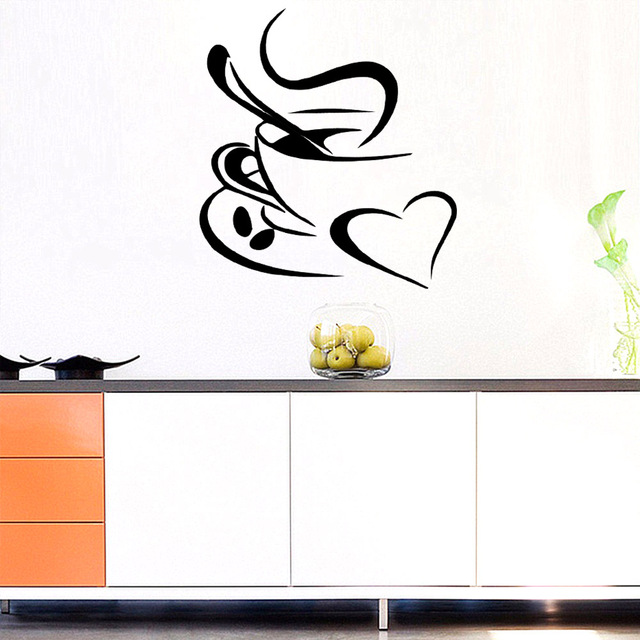 Wielkoformatowe naklejki ścienne do kawy winyle kawiarnia dekoracja okienna tapety do kuchni akcesoria naklejki dekoracyjne naklejki ścienne