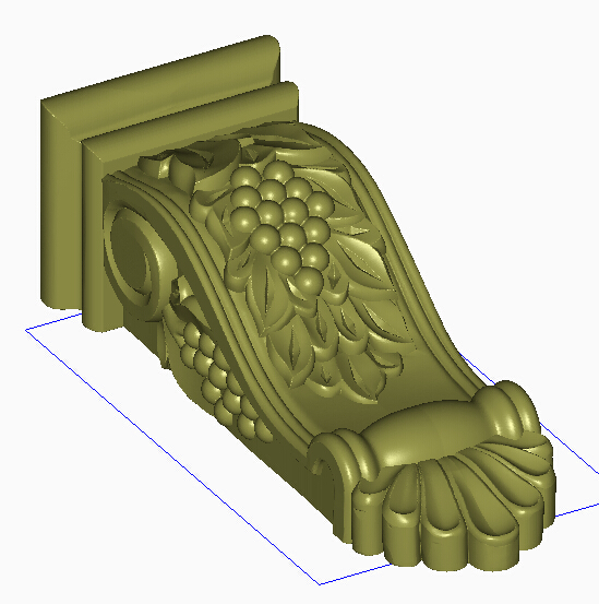 3D Model STL Format File For Cnc Router Carving Engraving Furniture Sofa Cabinet Legs Pattern Design With Grapes 870