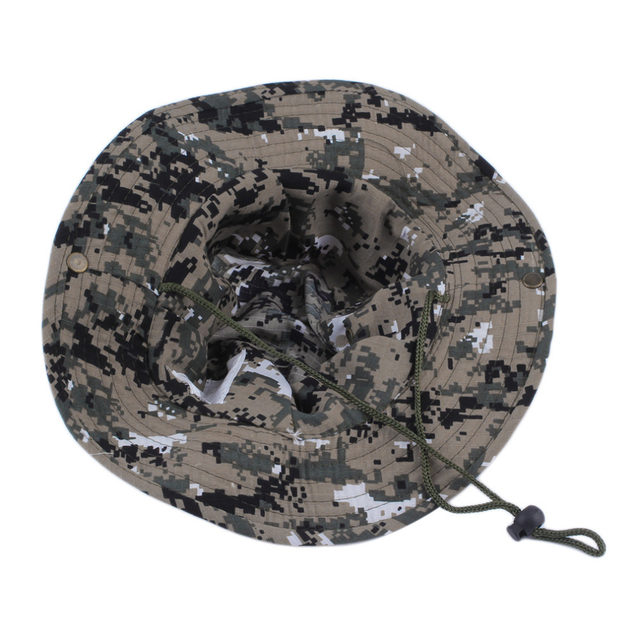 652a774812e Online Shop Military Army Jungle Camo Boonie Bucket Cap Hat Fishing ...