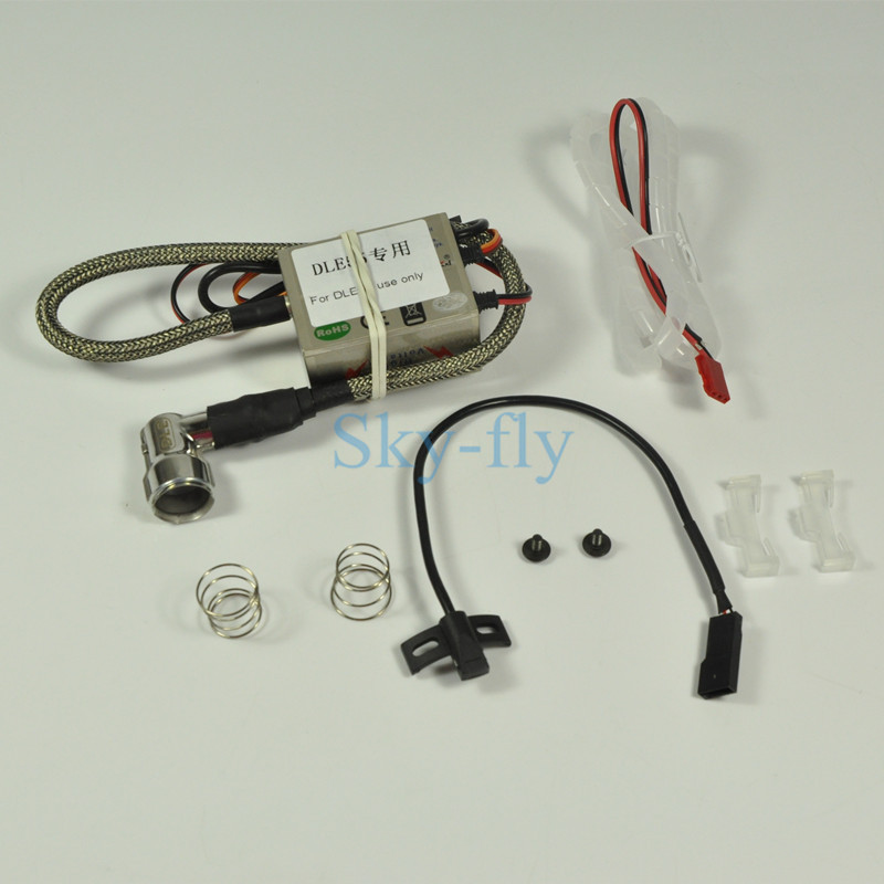 DLE55 Use Only Automatic Advancing Angle Electronic Ignition For DLE55 Engine electronic autmatic advancing angle ignitions for dle55 90 degree spark plug with hall sensor bracket