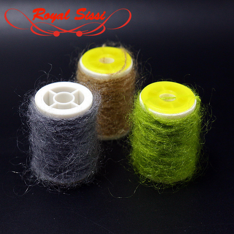 Royal Sissi 10 Optional Colors Leech Mohair Yarn Long Angora Hair Twisted Fly Tying Yarn Caddis Hairy Nymph Body Tying Materials