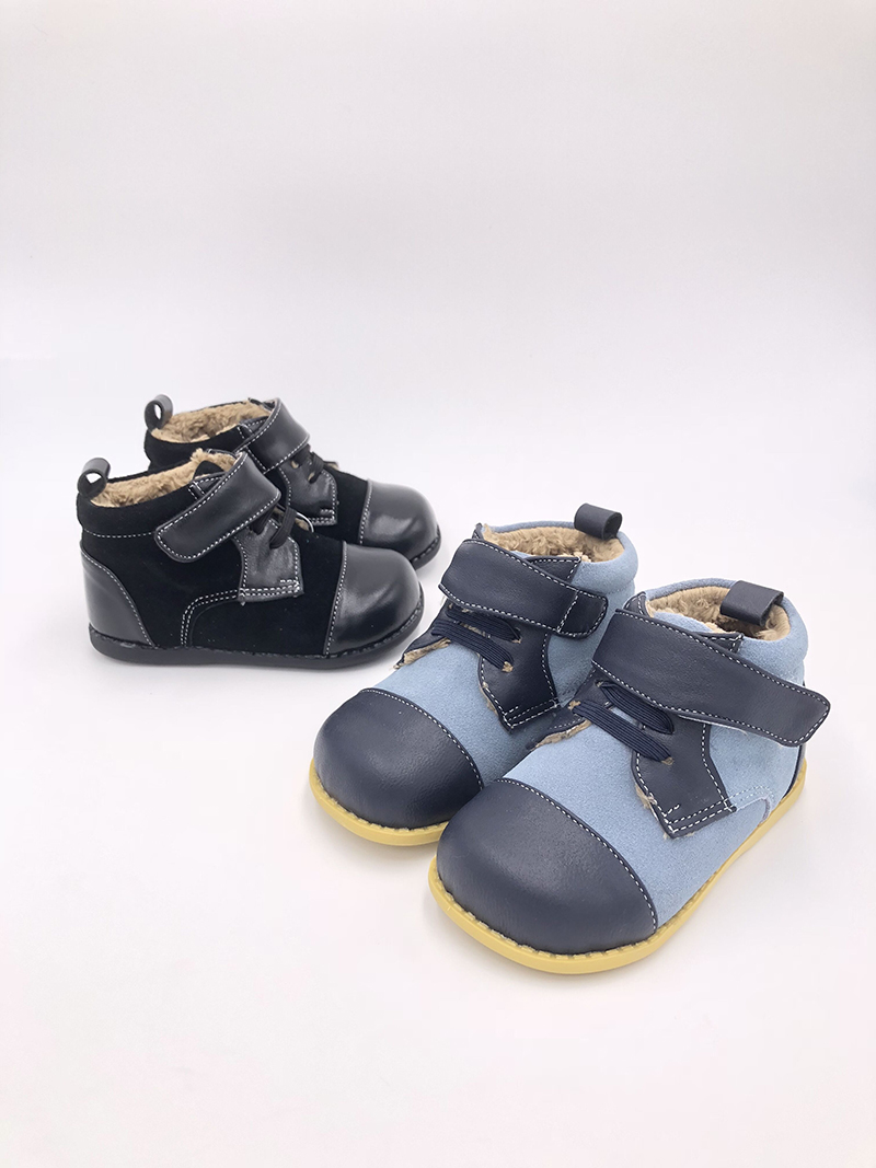 Tipsie toes 018 New Winter Children Shoes Genuine Leather Martin Boots Kids Snow Boots Girls Boys Rubber Boots Fashion Sneakers