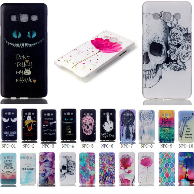 Cover for Samsung Galaxy A3 A300 A300F Transparent Side Phone Cases