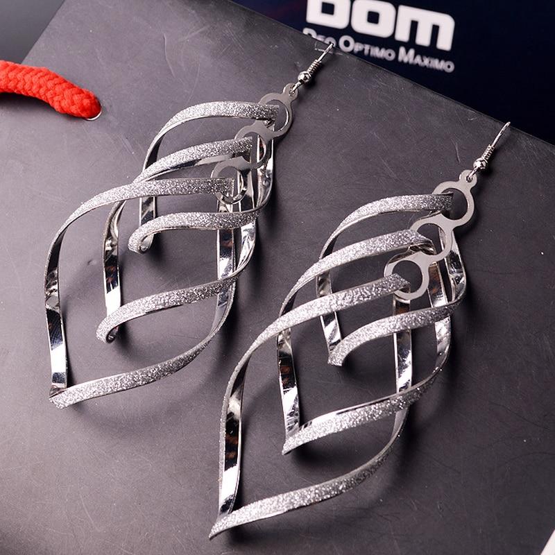 QHQ orecchini brincos earing nero oro argento monili di modo di goccia ciondola nappe orecchino appeso pendenti geometrica accessori