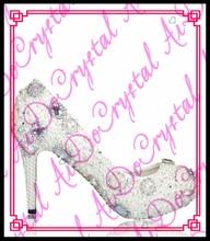 Aidocrystal silver white fashion women high heels bridal footwear rhinestones pearl shoes