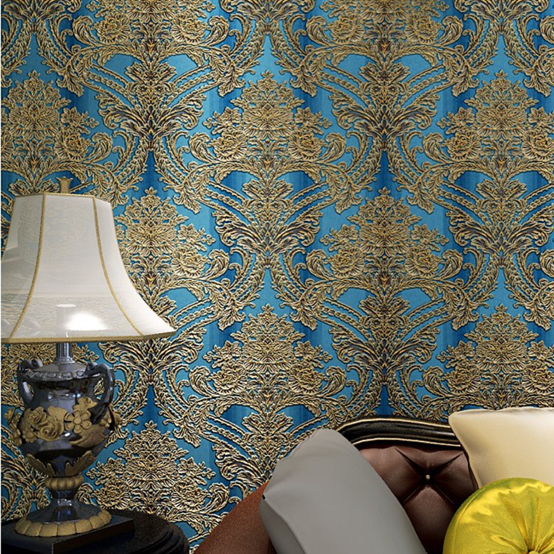 Victorian Floral Embossed Vintage Wallpaper Damask Wall