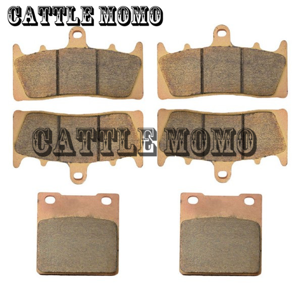 Motorcycle Brake Pad Copper Based Sintered Front & Rear Brake Pads For GSX-R1100 GSX-R 1100 GSXR1100 1993-1998 Brake Disk Pad sintered copper motorcycle parts fa252 front brake pads for yamaha fzs 600 fazer 98 03