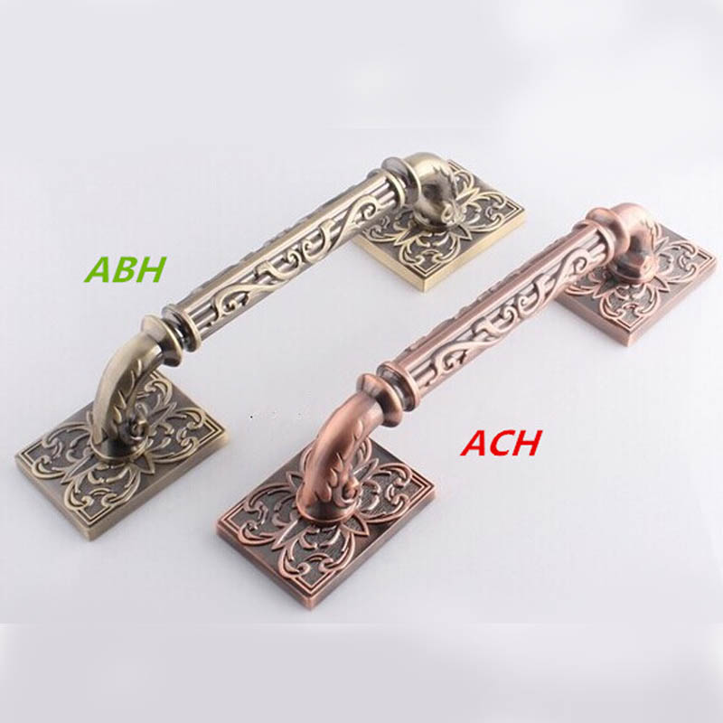 325mm Wooden,Glass Door Pulls Antique copper Door Handles Bronze Home Ktv Hotel Big Gate Door Pulls Handles 550mm high quality clear crystal glass big gate door handles stainless steel big gate door handle pulls wooden door pulls