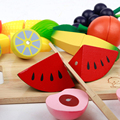 Kids Pretend Toy Baby Fruit Crush Wood Kitchen Learning Educational Preschool Training Brinquedos Juguets