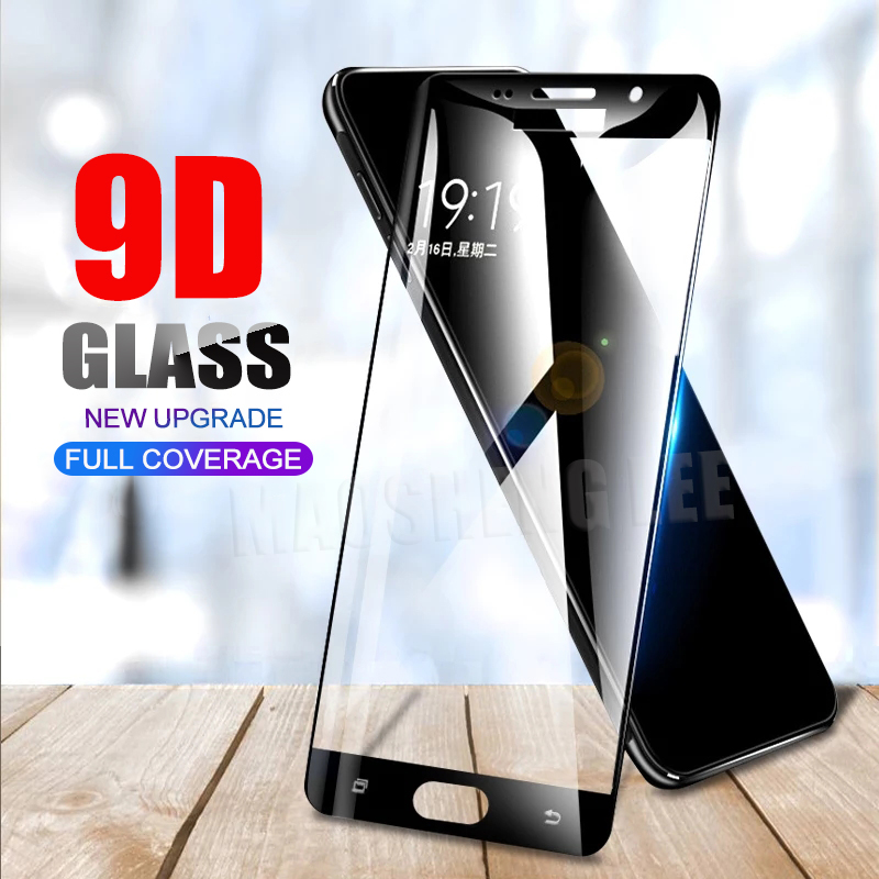 New 9D Tempered Glass For Samsung Galaxy A7 2018 A9 A6 A8 Plus Screen Protector Full Cover Tempered Glass For Samsung A7 A750F