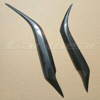 2006 2013 For Mazda 3 Axela Carbon Fiber Car Headlight Eyelid Eyebrows Trim Sticker For Mazda3
