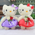 12psc Random Color Sweet 12CM Diamond Hello Kitty Plush Stuffed TOY DOLL Plush TOY , Wedding Bouquet Decor TOY Gift DOLL