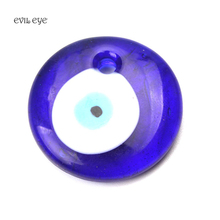 evil eye1pc blue round glass evil eye with drilling bead charm jewelry accessories for bracelet necklace keychain diameter 30mm