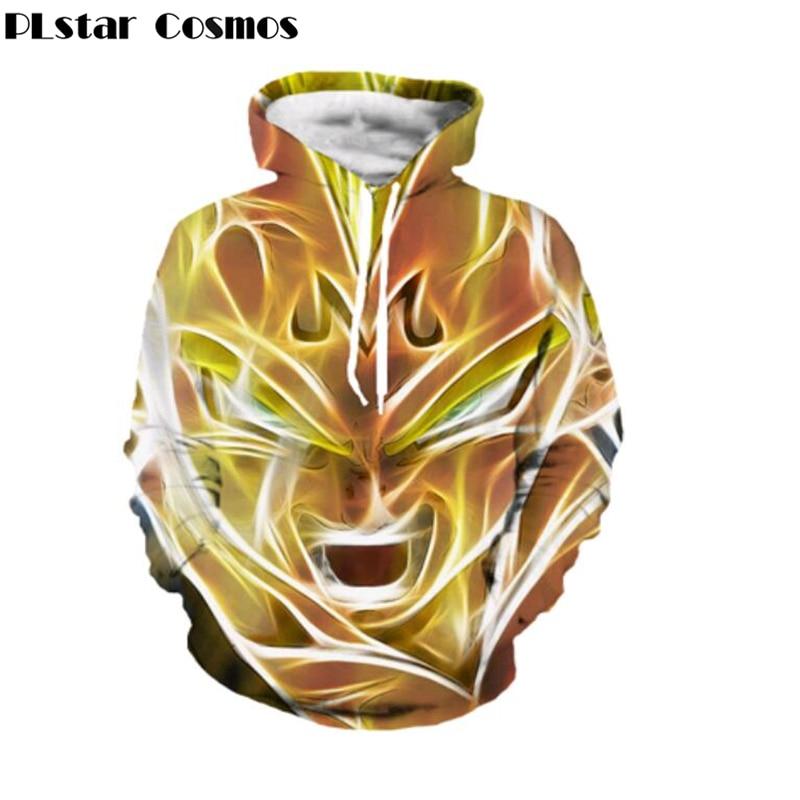 plus size S-5XL 2018 Newest Style Anime Dragon Ball Z Super Saiyan Hoodies Cool Goku Hooded Women Men Long Sleeve Outerwear
