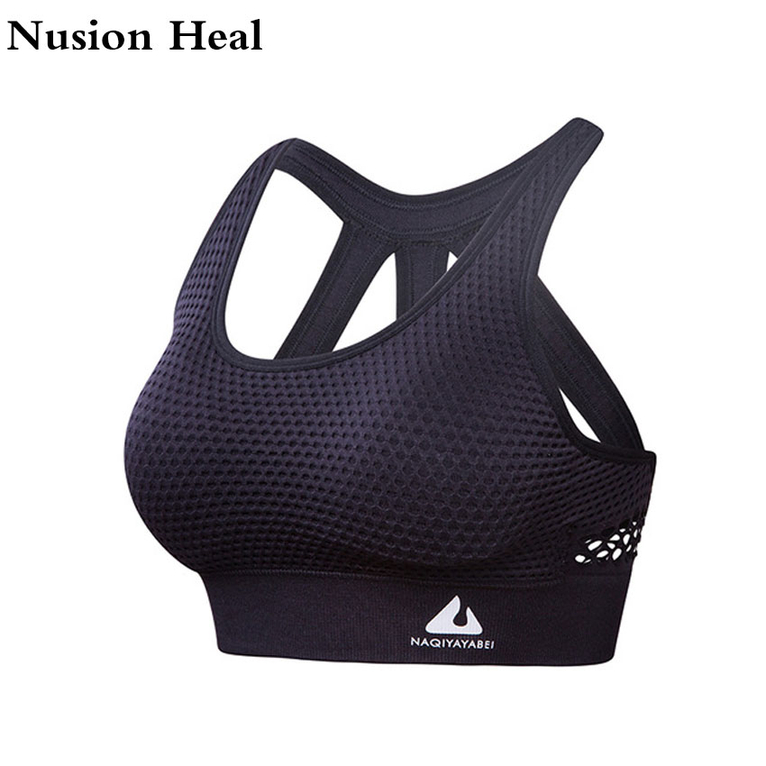 2018 Women Sports Bra Tops High Impact for Fitness Yoga Running Pad Cropped Top