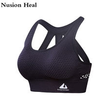 Women Sports Bra Tops High Impact for Fitness Yoga Running Pad Cropped Top SportsWear Tank Yoga Tops Sports Push Up Bra Women(China)