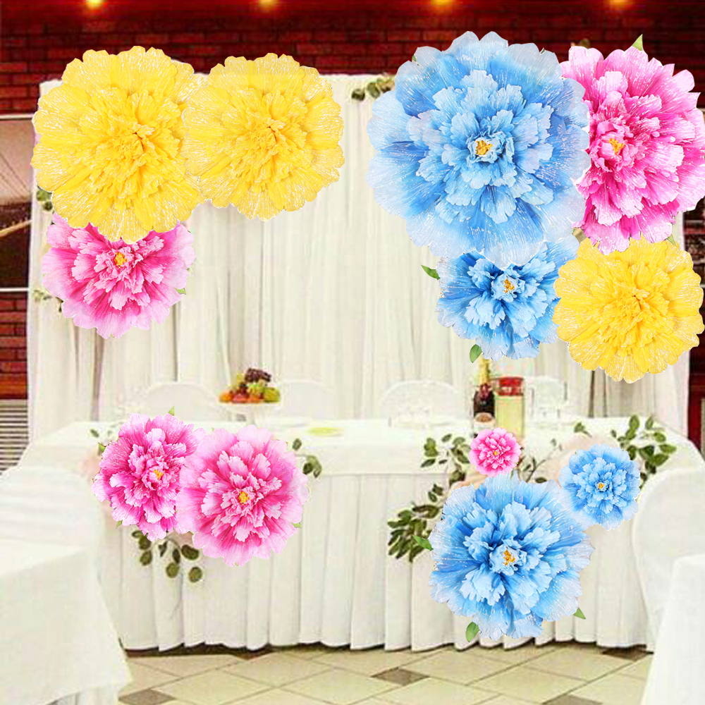 Large Artificial Peony Flowers Branches For Wedding Background
