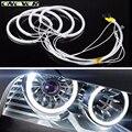 Onever 4x131 мм Белый 6000 К Автомобиль CCFL LED Angel Eyes фары для BMW E46, E36, E39, E318A04 Бесплатная Доставка