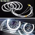 Onever 4x131mm White 6000K Car CCFL LED Angel Eyes headlights for BMW E46,E36,E39,E318A04 Free Shipping