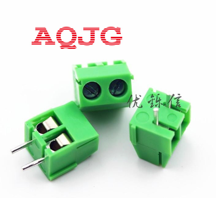 KF350 2p /3.5mm pitch 7.5mm PCB Screw Terminal Block Connectors,binding post wire connecting terminals spacing AQJG 20078 2 pin pcb screw terminal block connectors green 15 piece pack
